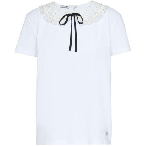 Miu Miu Verziertes T-Shirt