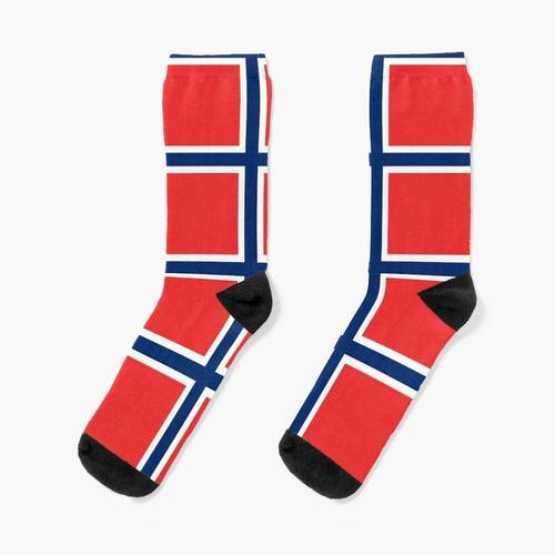 Norwegen   Norwegische Flagge Socken