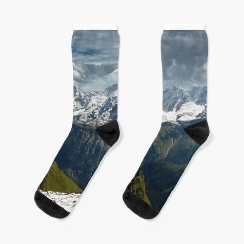 Der Eiger und die Schweizer Alpen Socken