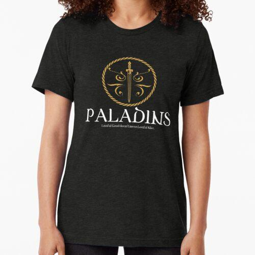 Paladin Paladins Tabletop RPG Addict Tri-blend T-Shirt