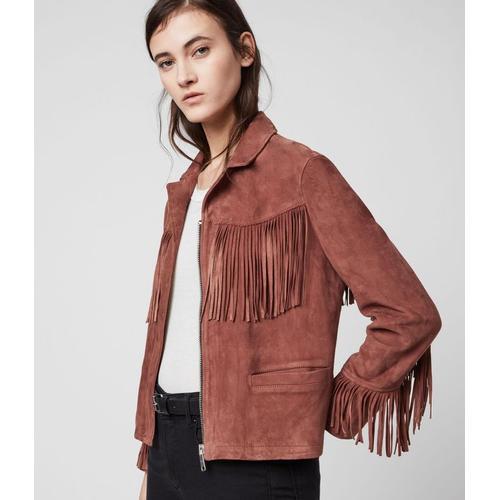 AllSaints Mina Tassel Jacket Womens