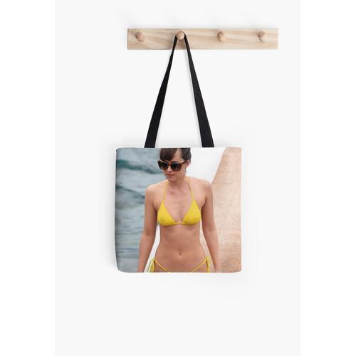 Dakota Johnson gelber Bikini Tasche