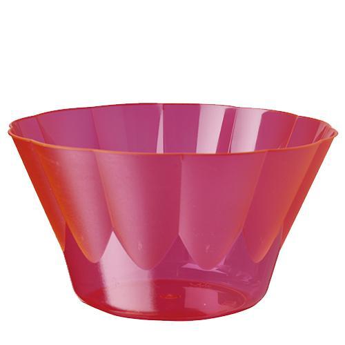 Papstar 216 Eis- und Dessertschalen, PS rund 400 ml Ø 12 cm · 7 cm pink