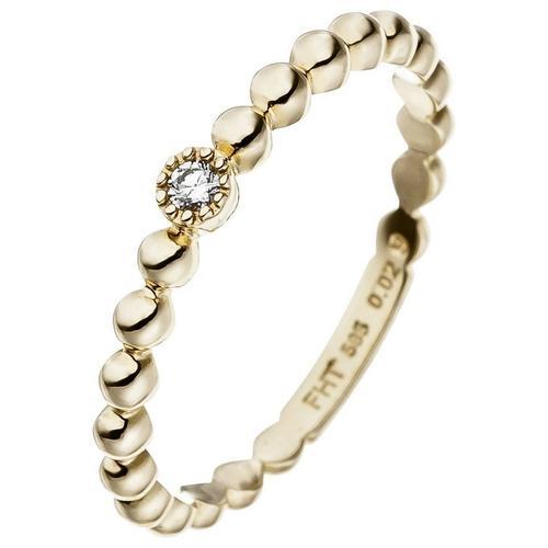 JOBO Diamantring, 585 Gold mit Diamant 0,02 ct.