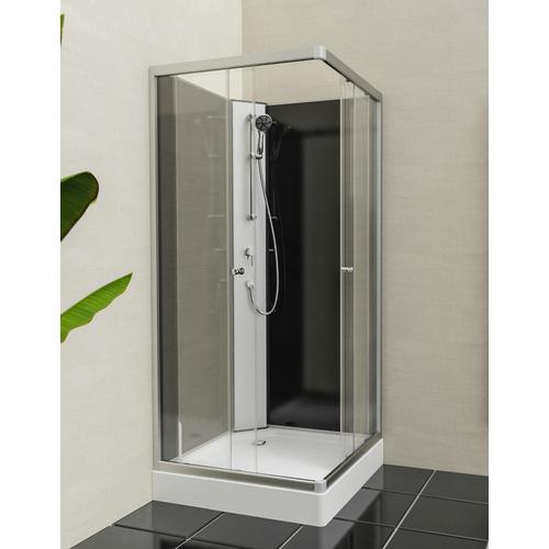 Eisl Komplettdusche Graz 2, inklusive Armatur weiß Duschkabinen Duschen Bad Sanitär