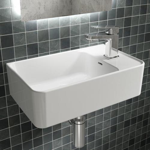 Ideal Standard Strada II Handwaschbecken B: 45 T: 27 cm, Becken links weiß, mit Ideal Plus T2994MA