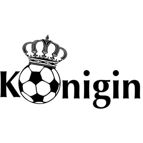 Wall-Art Wandtattoo »Fußball Fußballkönigin« (1 Stück)