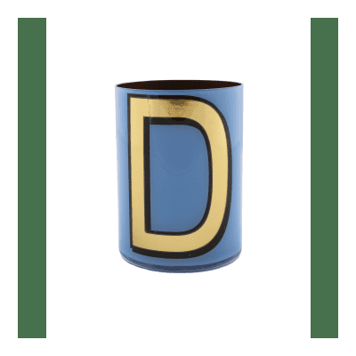 Bridie Hall - Alphabet Brush Pot D - Red
