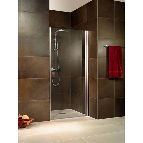 Schulte Dusch-Drehtür Toskana, mit Knopfgriff silberfarben Duschtüren Duschen Bad Sanitär