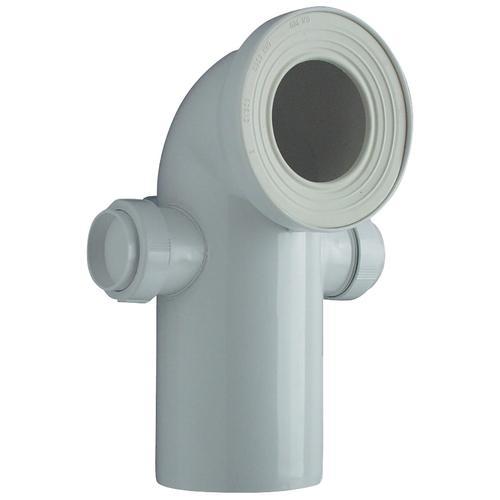 CORNAT WC-Anschlussrohr, mit 2 Stutzen, 50mm weiß Sanitärtechnik Bad Sanitär WC-Anschlussrohr