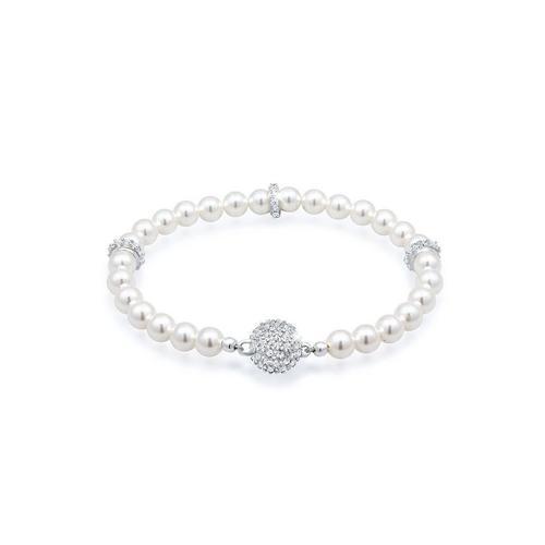 Elli Perlenarmband »Kugel Magnet Synthetische Perlen 925 Silber«