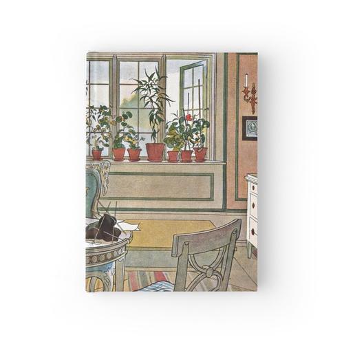 Blumen auf der Fensterbank Notizbuch