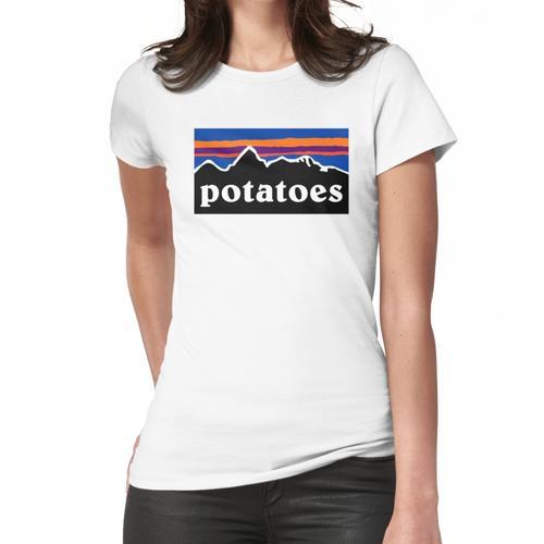 Kartoffeln Idaho Farmer Parodie Frauen T-Shirt