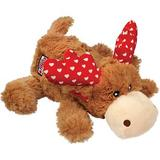 KONG Valentine's Day Marvin The Moose Cozie Squeaky Dog Toy, Medium