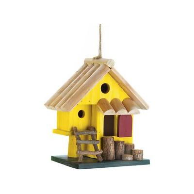 Zingz & Thingz Yellow Tree Fort Bird House