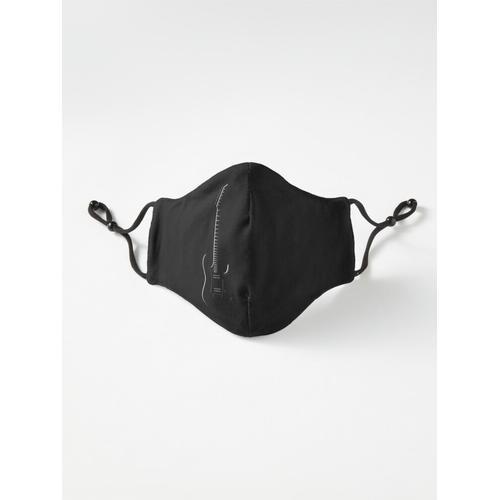 Schwarze E-Gitarre Maske