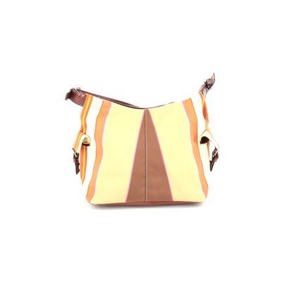 Preston & York - Preston & York Shoulder Bag: Brown Color Block Bags