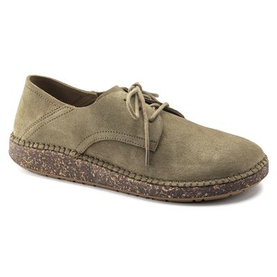 BIRKENSTOCK Gary Suede Leather Faded Khaki Low Shoes