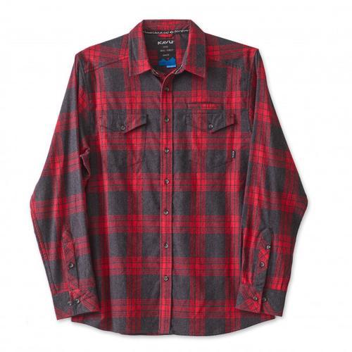 KAVU - Lorenzo - Hemd Gr XL rot/schwarz
