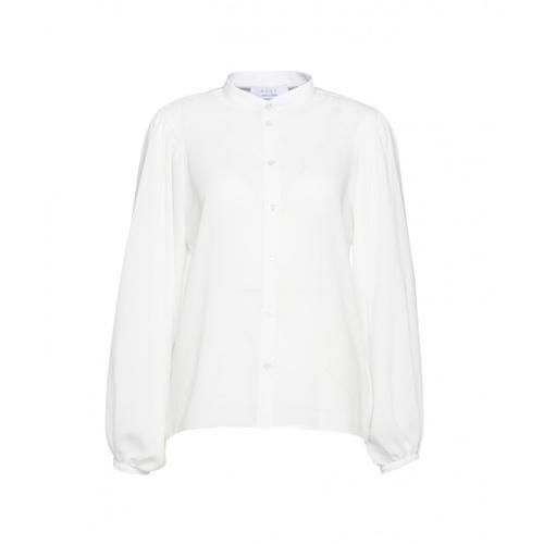 Kaos Damen Bluse mit Puffärmel Weiß