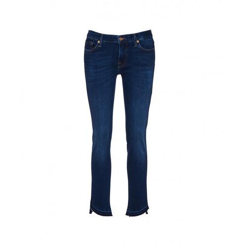 7 for all mankind Damen Pyper Crop Jeans Blau