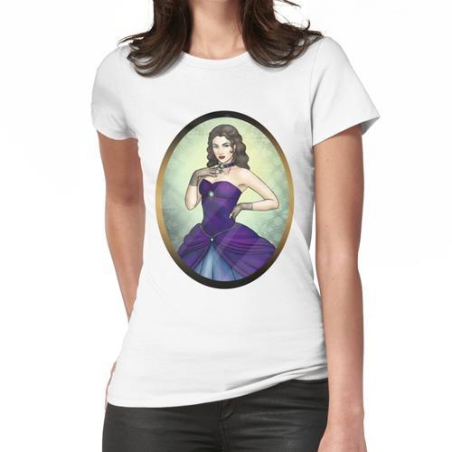 Prinzessin in einem blauen Ballkleid Frauen T-Shirt