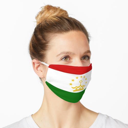 Flagge von Tadschikistan Maske