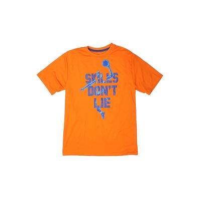 Active T-Shirt: Orange Solid Sporting & Activewear - Size 14