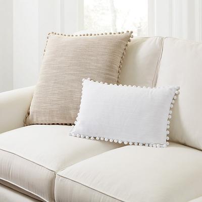 "Phoebe Pom Pom Pillow Natural 22"" X 22"" - Ballard Designs"
