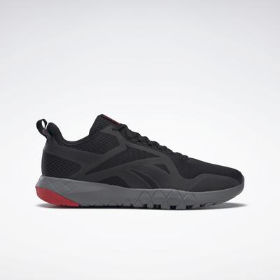 Reebok Men's Flexagon Force 3 4E Training Shoes in Black/Pure Grey 6/Vector Red Size 10 - Cross Training,Training Shoes