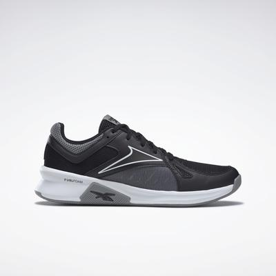 Reebok Men's Advanced Trainer Shoes in Black/Pure Grey 5/White Size 11.5 - Cross Training,Training Shoes