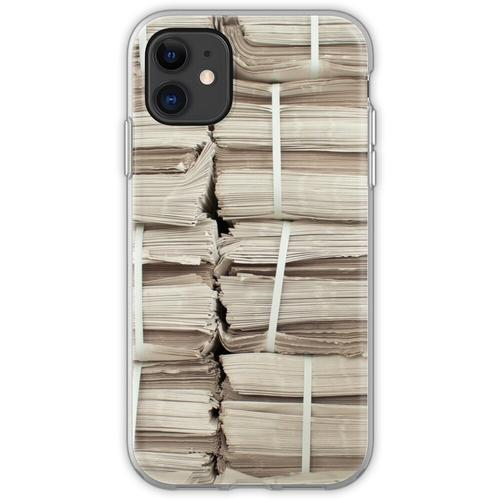 Papierstapel Flexible Hülle für iPhone 11