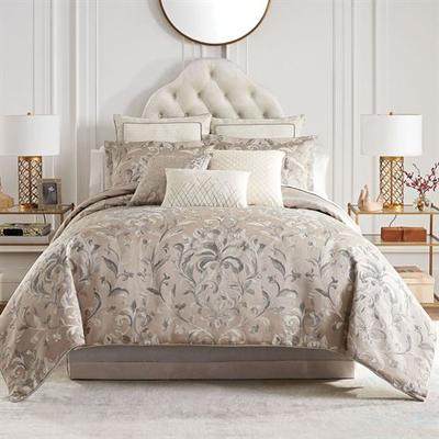 Andria Comforter Set Light Taupe, California King, Light Taupe