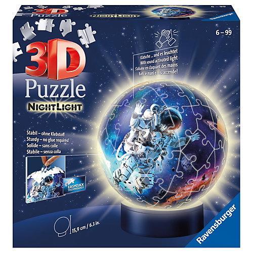3D-Puzzle-Ball Nachtlicht - Astronauten im Weltall, 72 Teile