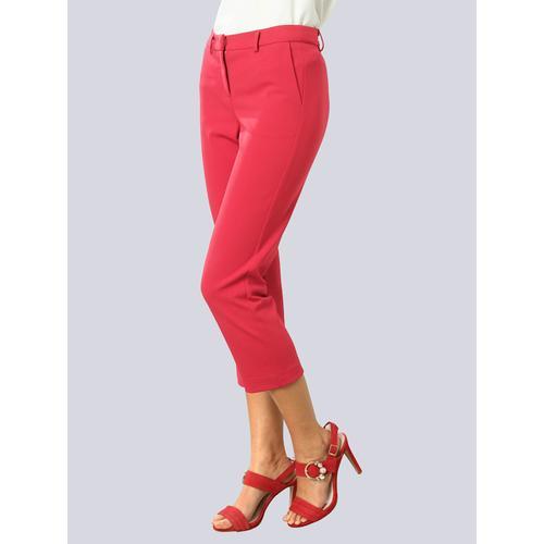 Alba Moda, Hose aus pflegeleichter Kofferware, rot