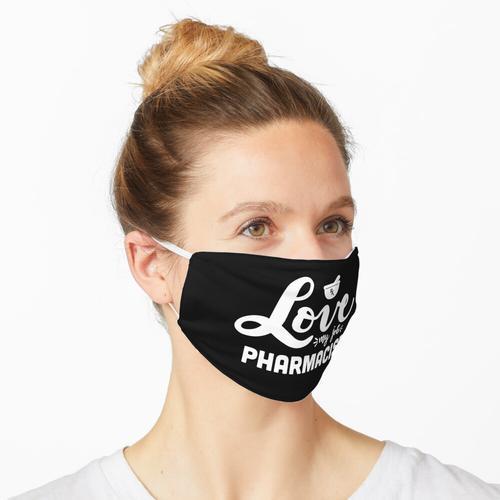 Liebe meinen Job Apotheker, Apotheker, Leben, Apotheke, rx, Apothekerhemd, Apothekergeschenk Maske