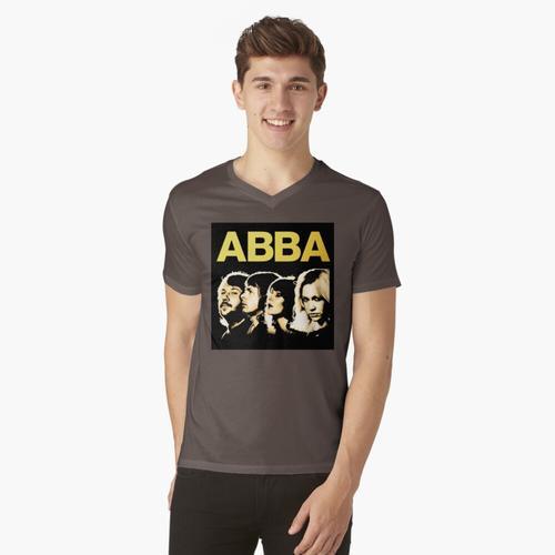 mama mia musikdisco t-shirt:vneck