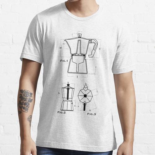 Moka Pot Bialetti Kaffeemaschine Essential T-Shirt