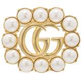 Gucci Broche à ornements perles GG