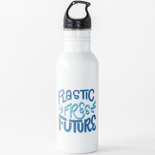 Plastikfreie Zukunft - Sag Nein zu Plastik Wasserflasche