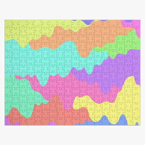 Buntes Druckdesign Puzzle