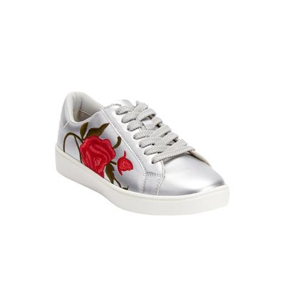 Women's The Marleigh Sneaker by Comfortview in Silver (Size 7 M)