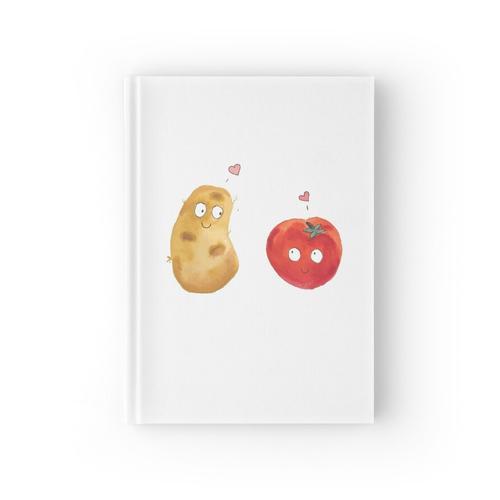 Kartoffel-Tomaten-Liebe Notizbuch