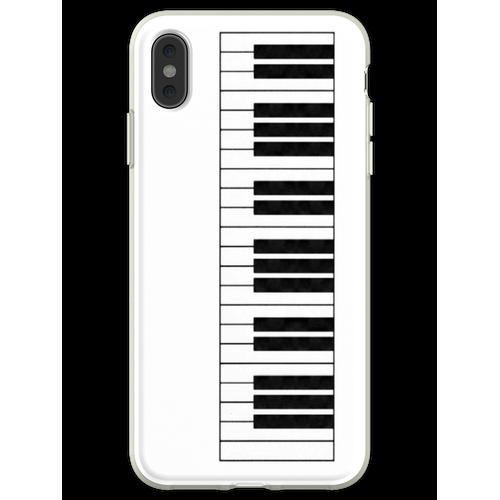 Klaviertasten in der Tonart von mir! Flexible Hülle für iPhone XS Max
