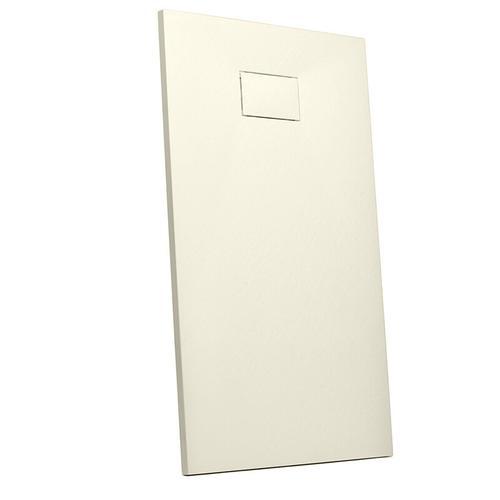 Bodenbündige rechteckige Harz Duschwanne 110x70 modernes Badezimmer Stone | Farbe: Beige