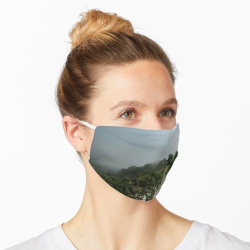 Weg durch den Nebel - Landschaftsfotografie Maske
