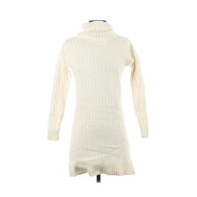 Banana Republic - Banana Republic Casual Dress - Sweater Dress: Ivory Solid Dresses - Used - Size 2X-Small Petite