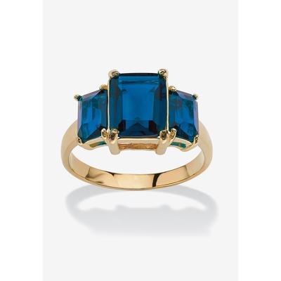 Plus Size Women's Yellow Gold-Plated Simulated Emerald Cut Birthstone Ring by PalmBeach Jewelry in September (Size 8)