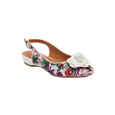 Wide Width Women's The Jessa Sling by Comfortview in Tropical Floral (Size 10 W)