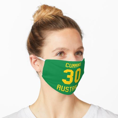 Pat Cummins | 30 | Australisches Cricket-Trikot Maske